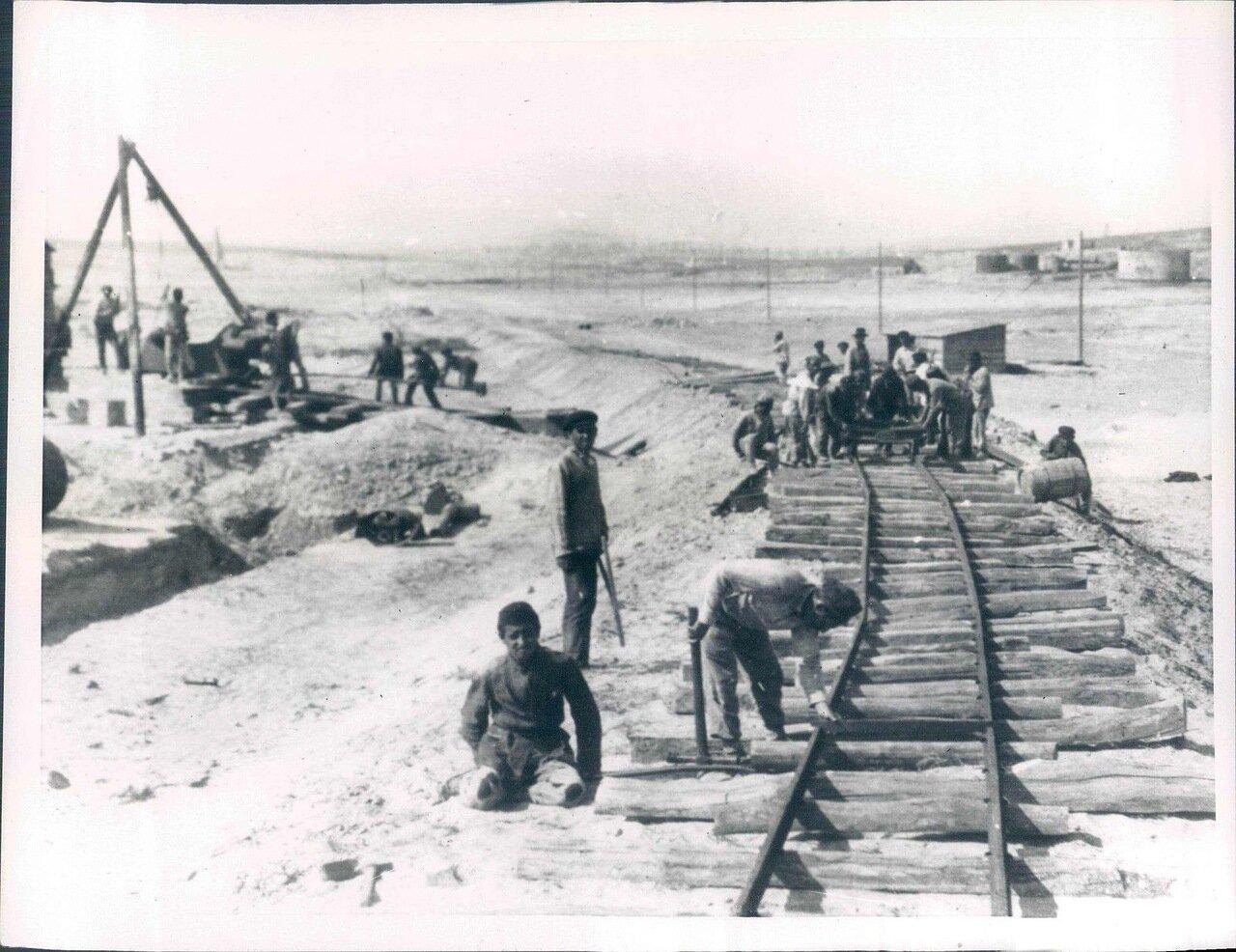 1924. Строительство железной дороги