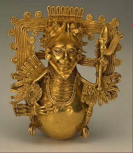 Pectoral Decoration in the Form of Warrior-Eagle
