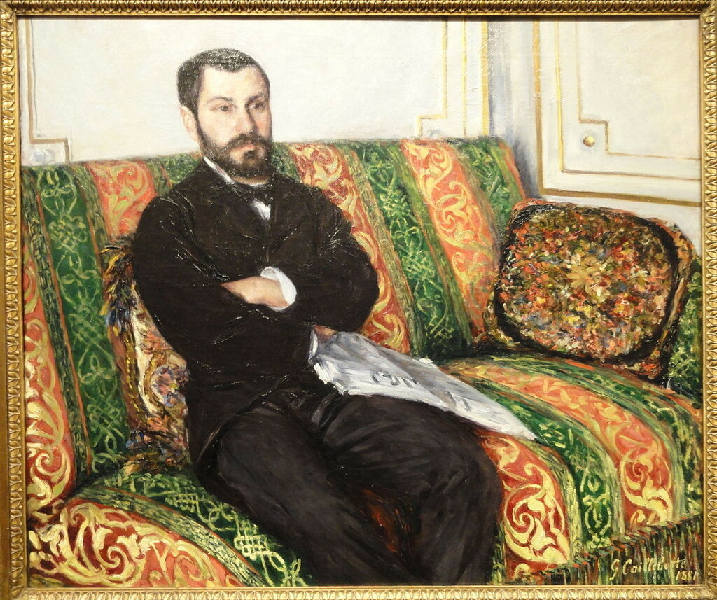Portrait of Richard Gallo; 1881; Gustave Caillebotte, (1848-1894)  Nelson-Atkins Museum of Art, Kansas City, Missouri, USA..