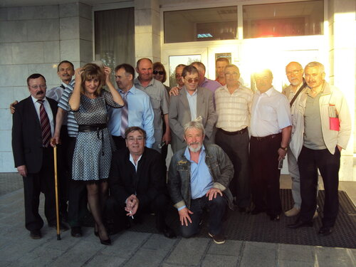 Участники вернисажа Петра Пупина. 2014 г.