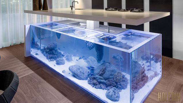 Кухонная стойка - аквариум