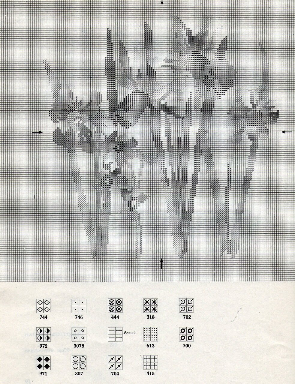 Мята вышивка крестом схемы