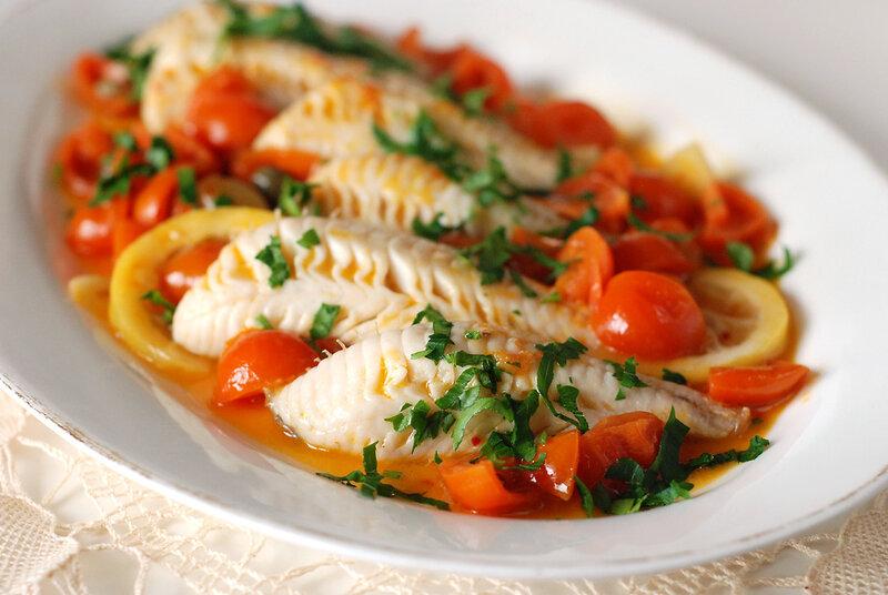 rossa di sera: filetti di gallinella all'agro - Come Cucinare Filetti Di Gallinella