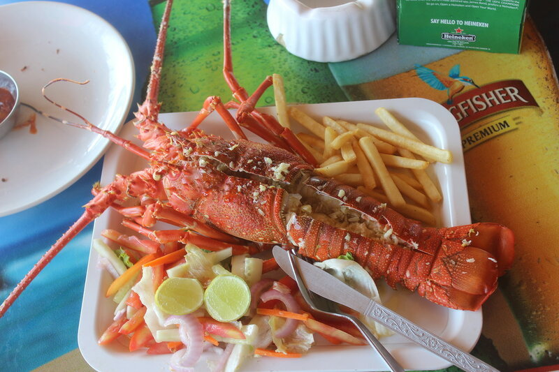 Гоа, Кандолим, морепродукты