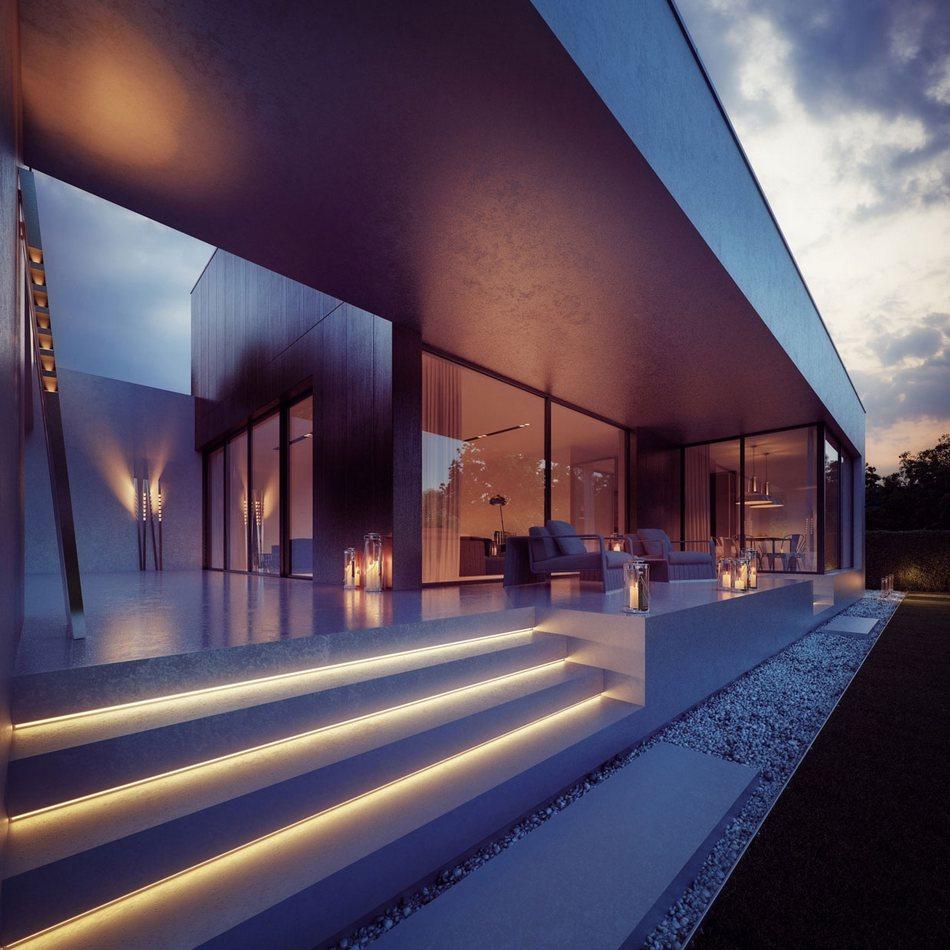 Проект частного дома Wooden Cube от компании 81.WAW.PL