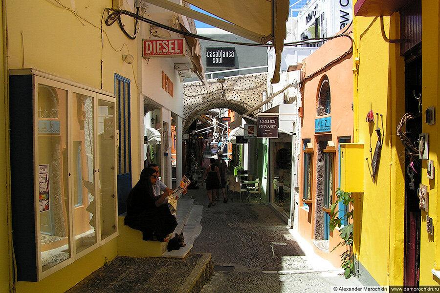 Улицы Фиры, Греция, Санторини