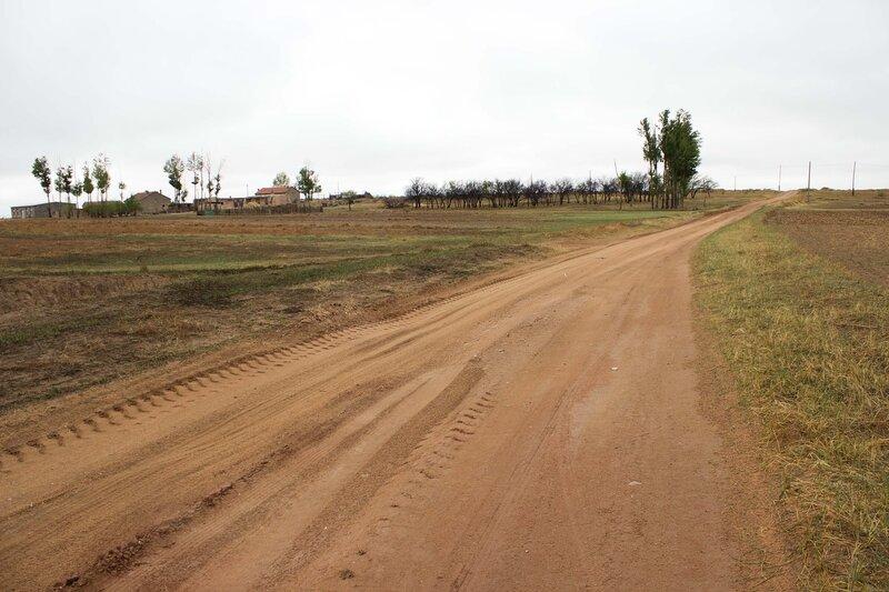 дорога на плато Ордос, Внутренняя Монголия