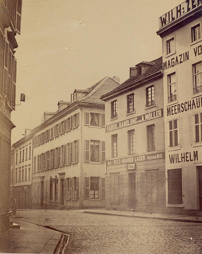 Дюссельдорф. Миттельштрассе. 1860