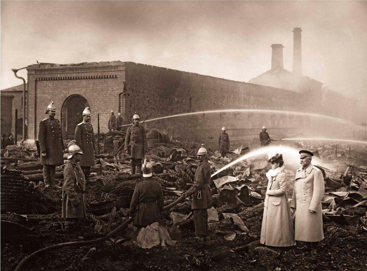 1900. Пожар на Канатной фабрике Гота