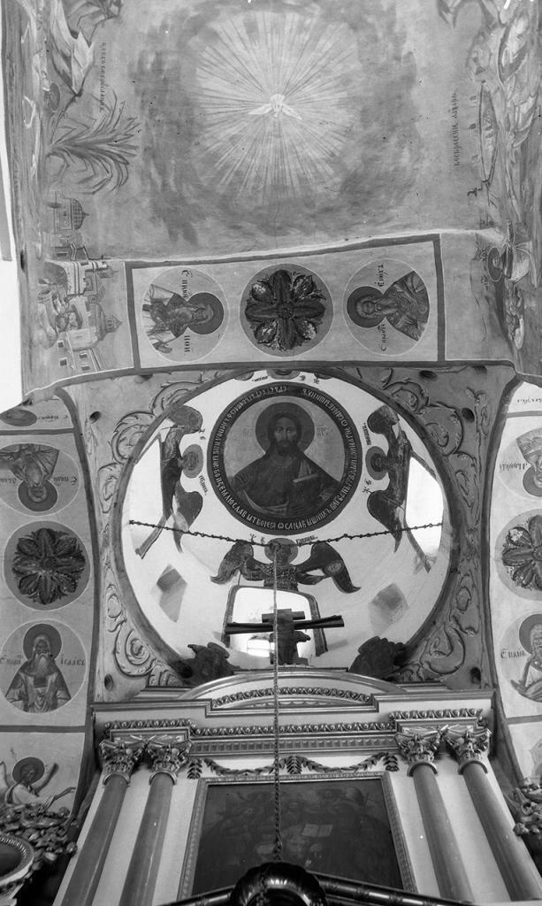 Сковородский монастырь. Храм Михаила Архангела. Роспись в куполе