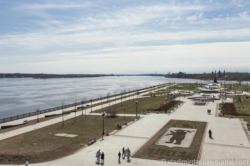 Река Волга. Ярославль. Золотое Кольцо.