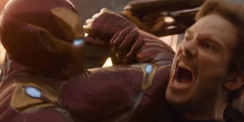 Мстители 3 - Железный Человек дерется со Звездным Лордом