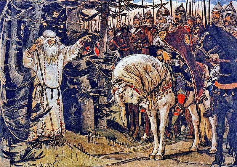 Встреча князя Олега с кудесником (волхвом). В. М. Васнецов, 1899.jpg