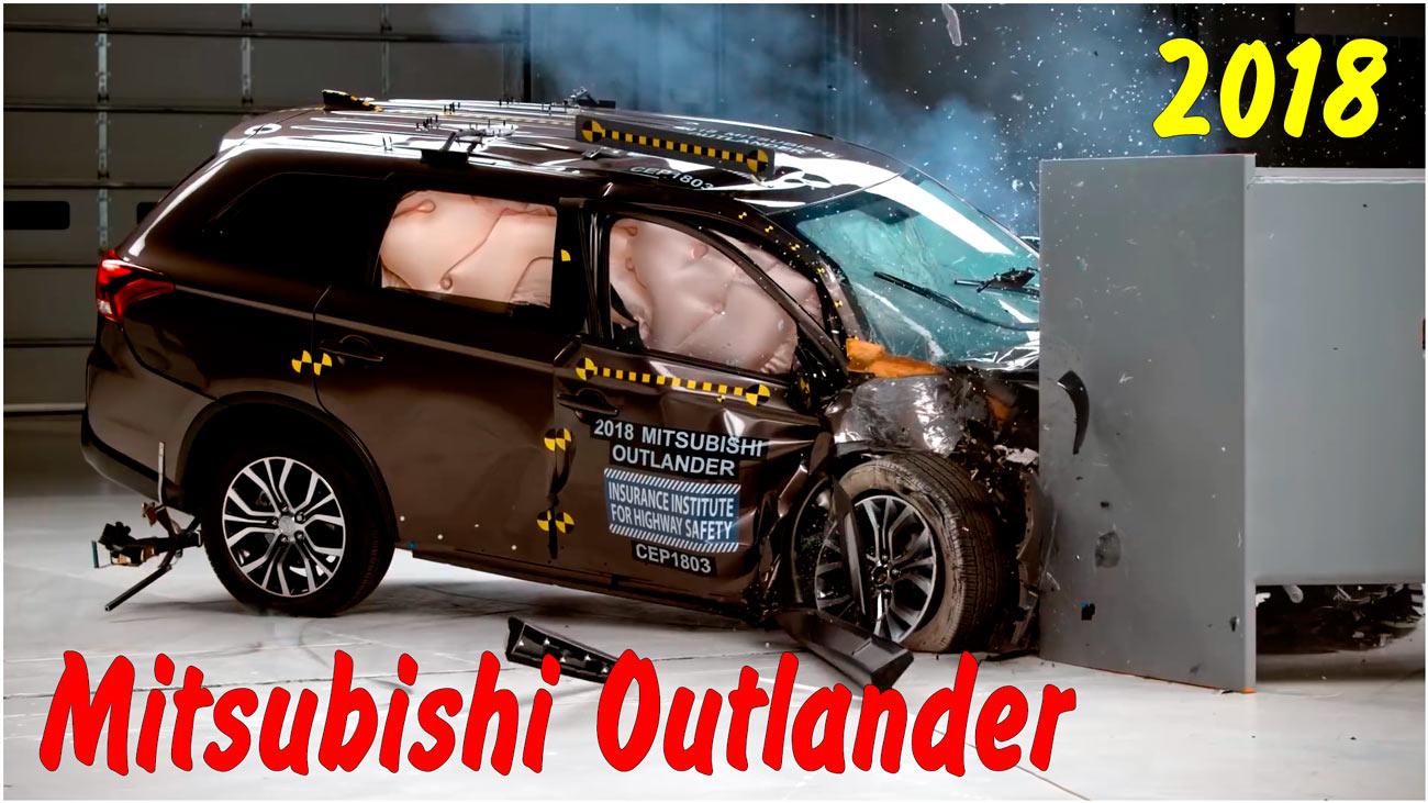 Фронтальный краш тест 2018 Mitsubishi Outlander