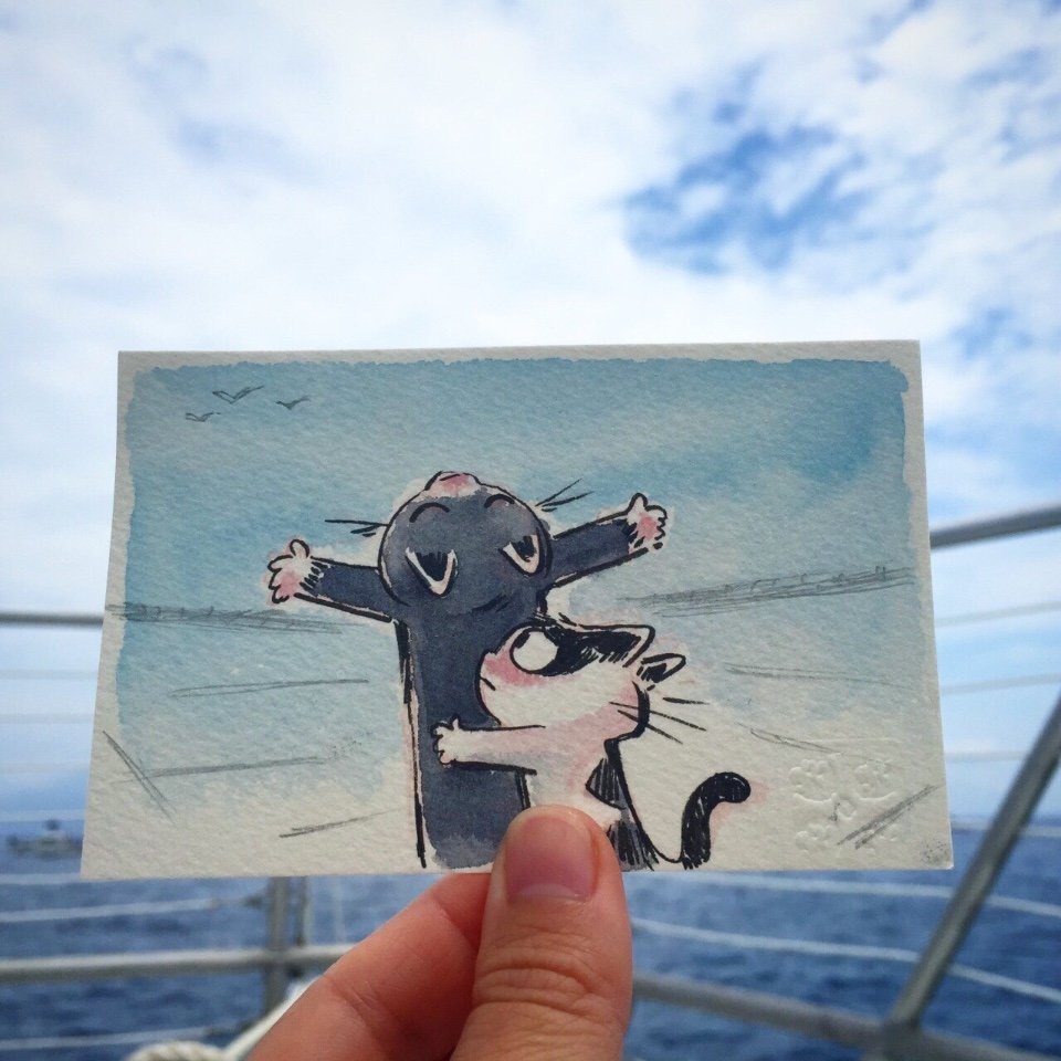 Художник из студии Disney Фавн Вирасунторн создал серию забавных иллюстраций с приключениями веселых котов