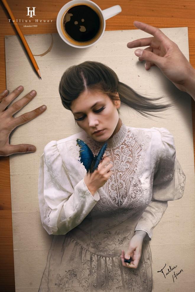 Будто живые: гиперреалистичные цифровые портреты бразильского художника Туллиуса Хейеры