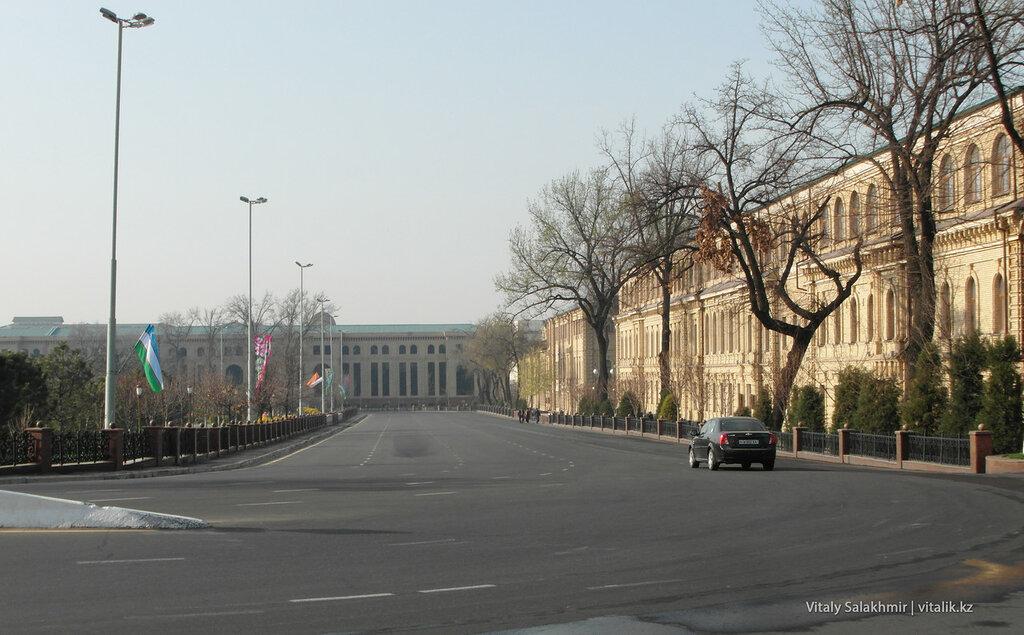 Кольцевая дорога, улица Амира Темура, сквер