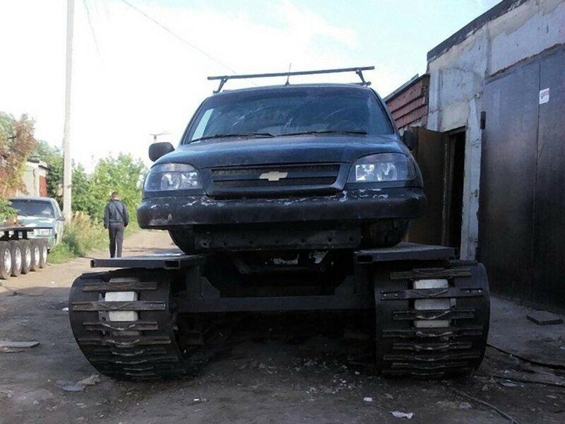 Гусеничный модуль для автомобиля