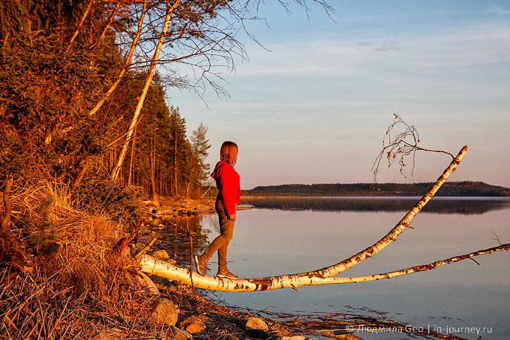 умиротворение и покой: закат на Онежском озере