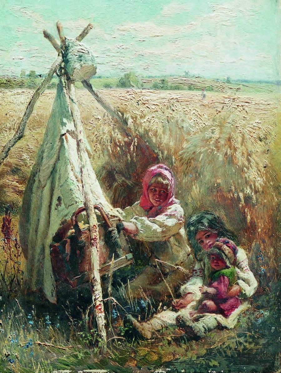 Дети в поле. 1870-е.