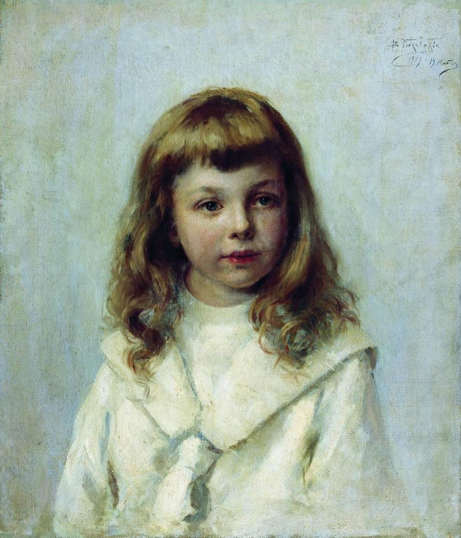 Портрет девочки  Музей изобразительных искусств им. Шалвы Амиранашвили, Тбилиси, Грузия.