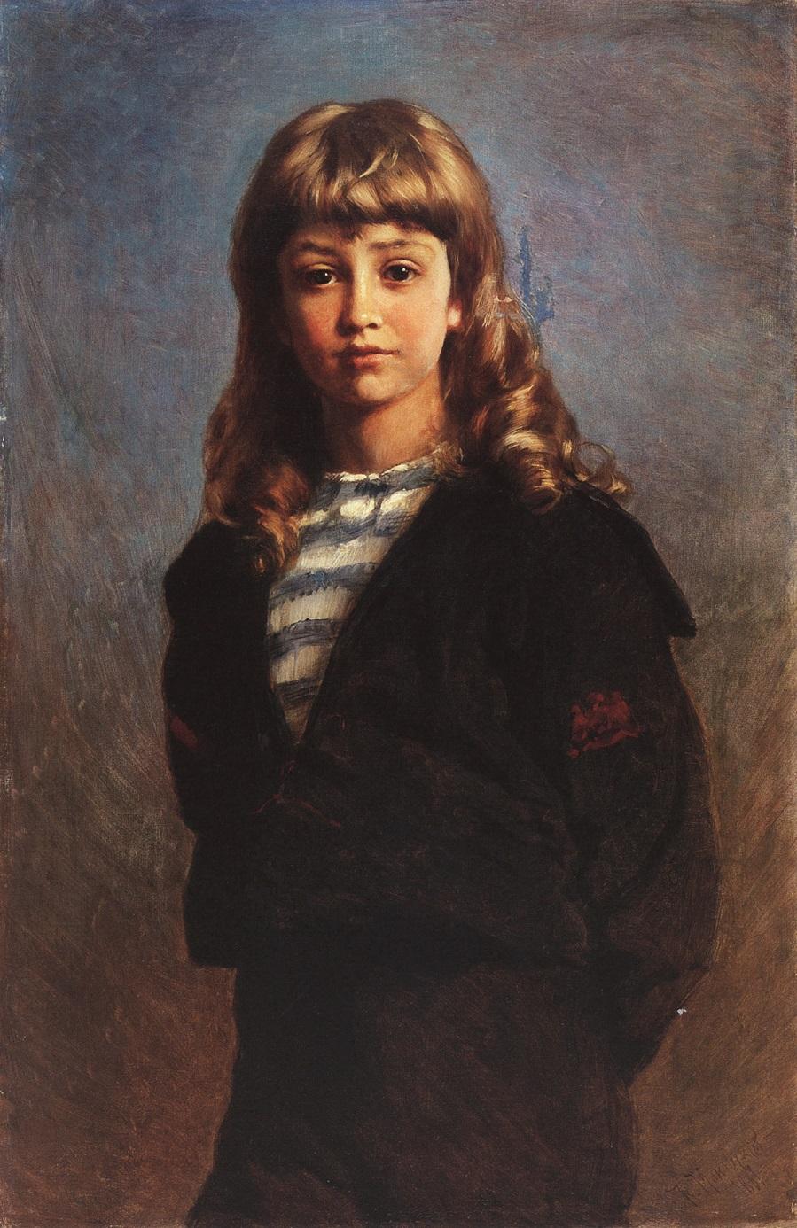 Сережа (Портрет сына в матроске). 1887.