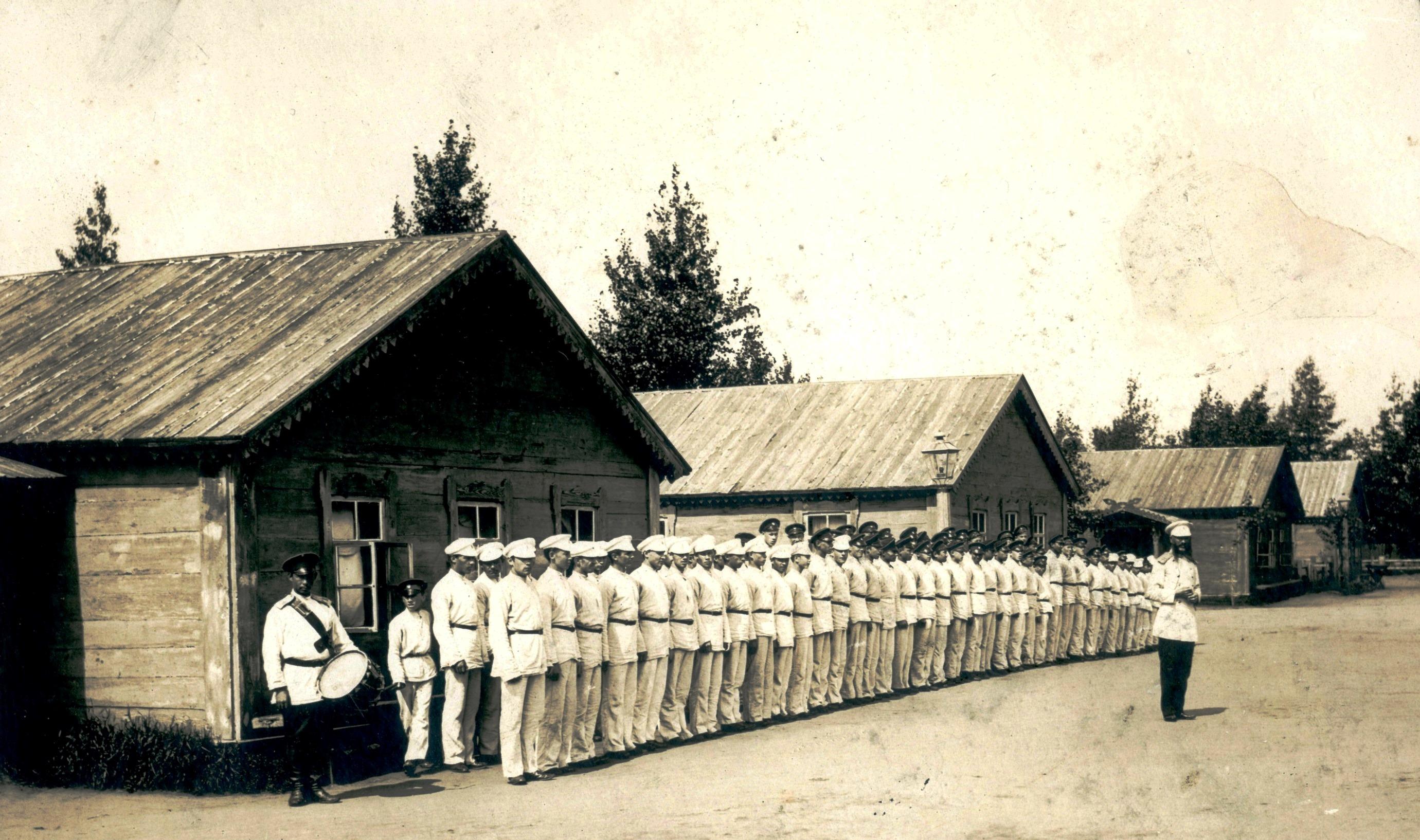 1887-1901. Построение в летнем лагере Сибирского кадетского корпуса