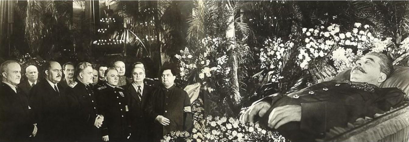 1953. Фото похорон генералиссимуса И.В. Сталина в Колонном зале Дома Союзов 7 марта