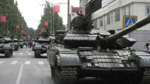 В Тирасполе танки испортили дорожное покрытие