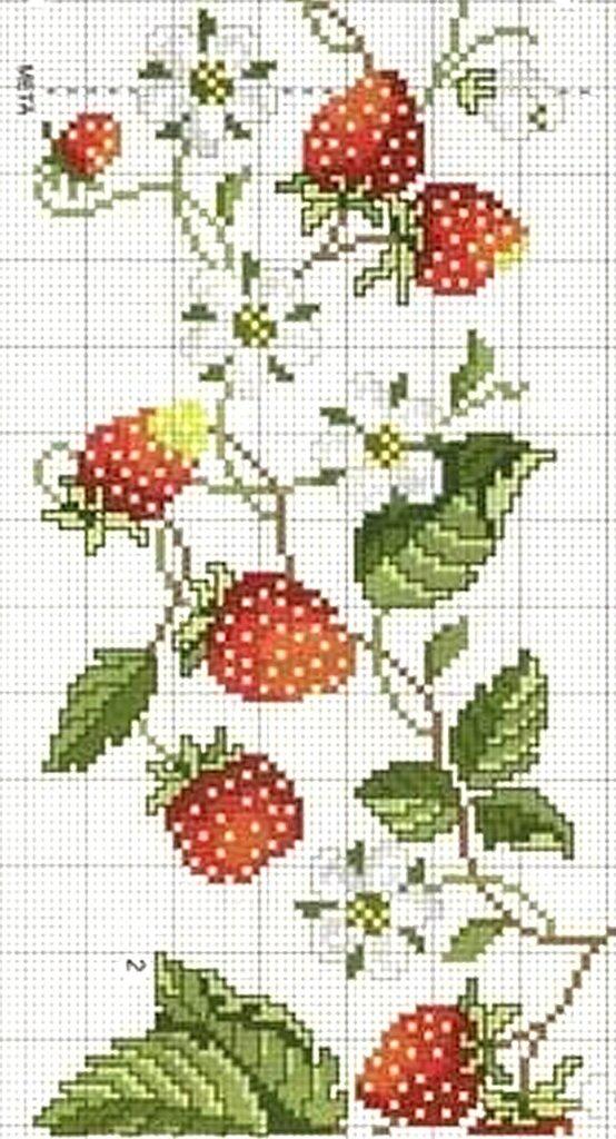 Вышивка фрукты ягоды 46