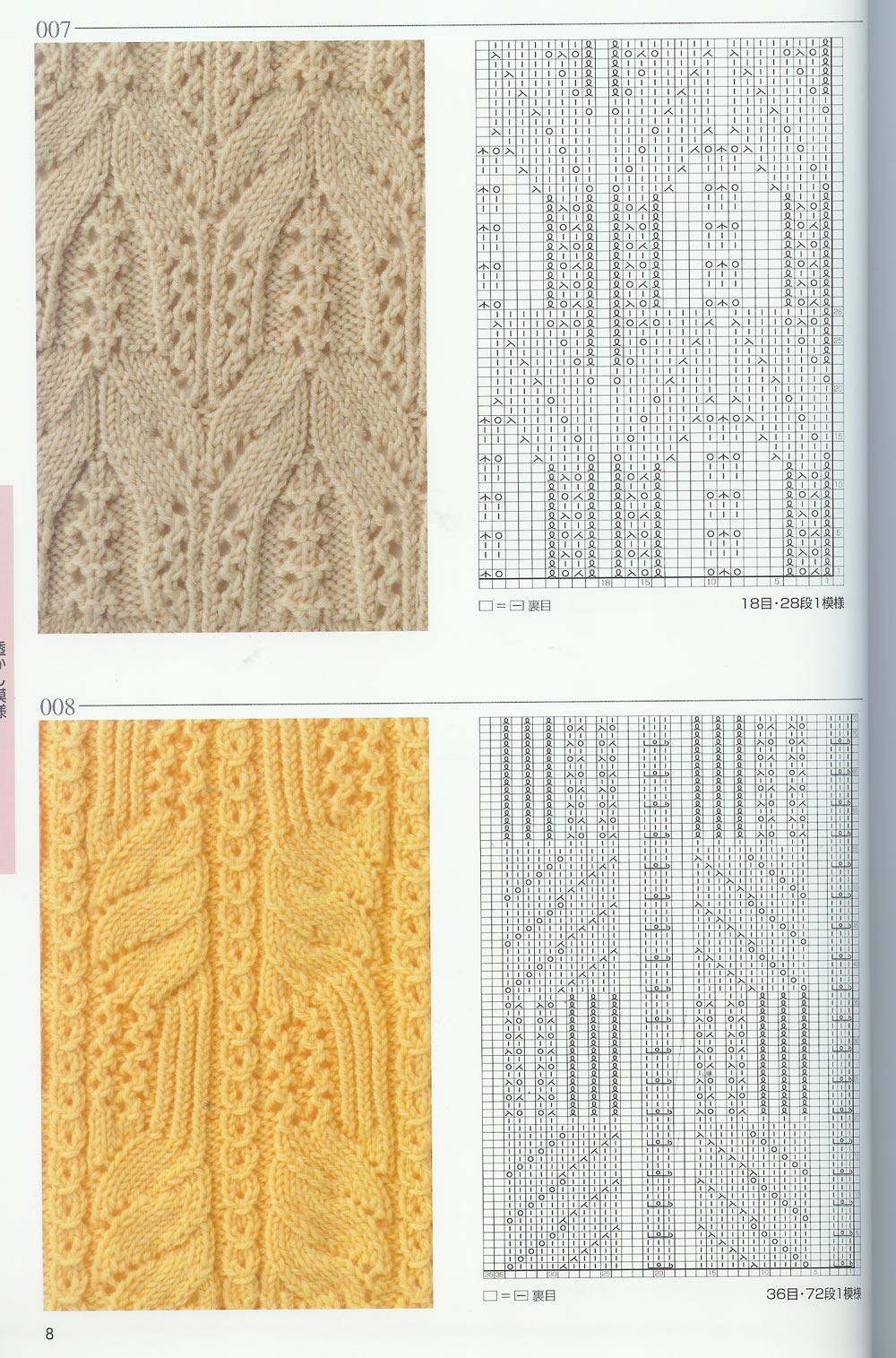 Вязание спицами узоры схемы японские схемы