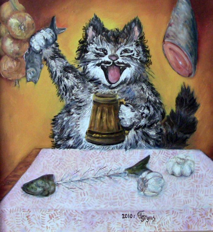 """картина """"Счастливый кот"""""""