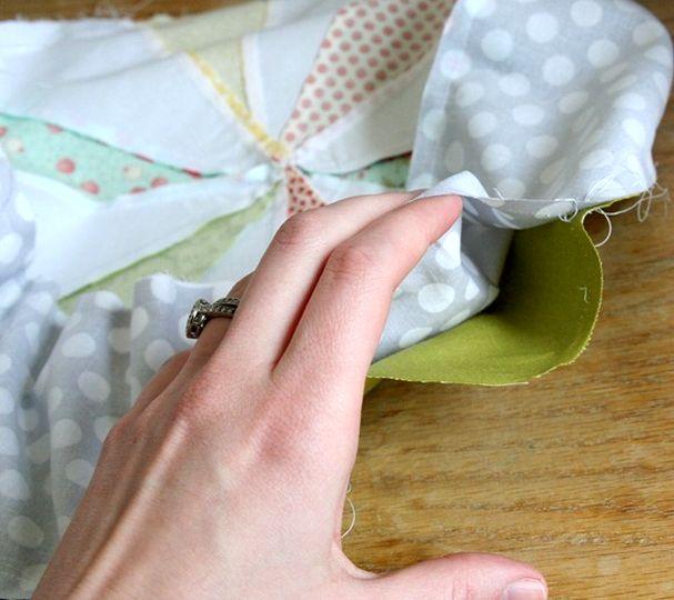 как сшить круглую подушку