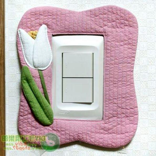 Рамки из ткани для фото, для выключателей