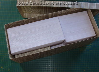 Как оправить цветок из ткани по почте