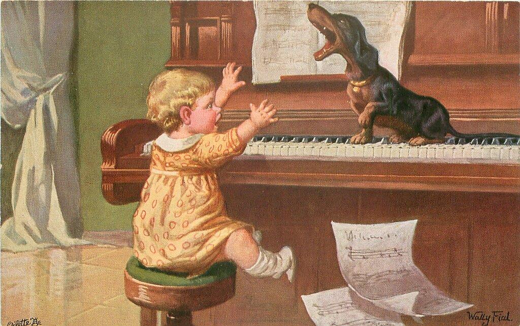 Почтовых открыток, открытка мальчик музыкант