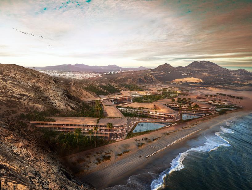 Курортный комплекс зигзагообразной формы в Мексике (12 фото)