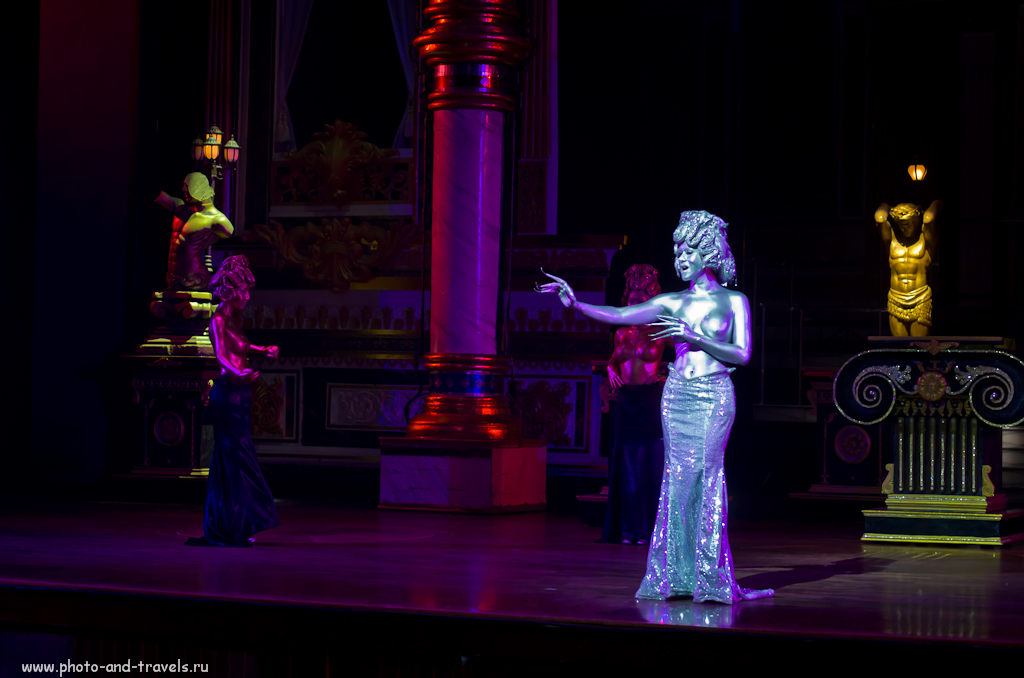 Фотография 10. Пример снимка, снятого на ISO (ИСО) 6400 на камеру Никон Д5100 и светосильный зум Никон 17-55/2,8 на концерте Альказар Шоу в Таиланде