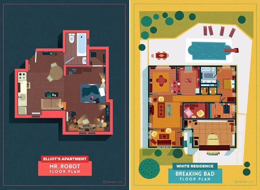 Home Floor Plans of Famous TV Shows (9 pics)