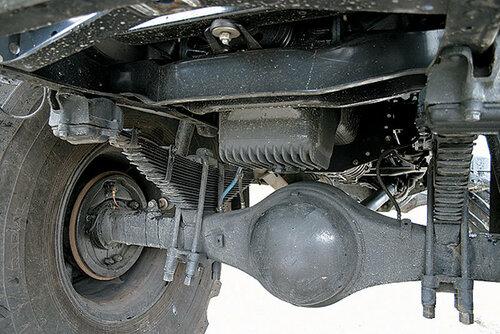 Подвески передних и задних колес выполнены по одинаковой схеме: мост-балка от ГАЗ-66 и рессоры с увеличенным количеством листов. Стабилизаторы поперечной устойчивости отсутствуют