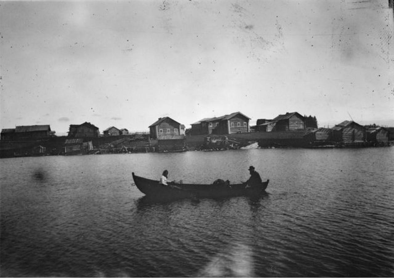 Кестеньга. Прекрасный вид с озера на деревню