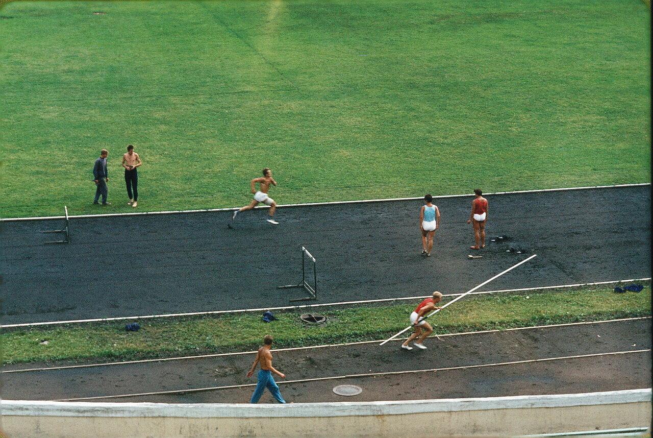 Минск. Тренировка на стадионе
