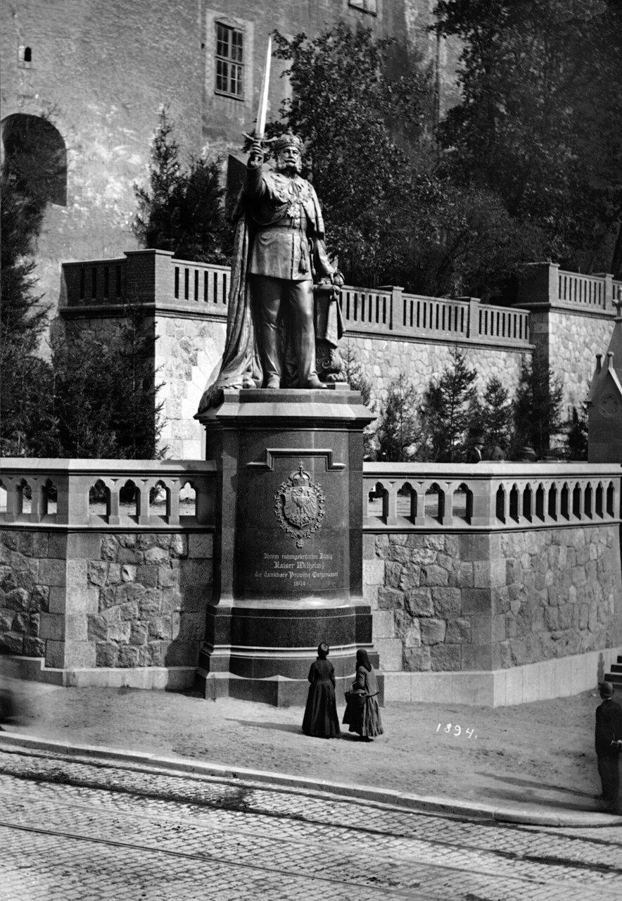 Памятник Кайзеру Вильгельму Первому. Фото 1894 года