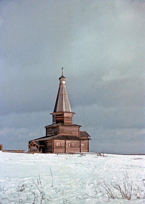 Давняя зима под Новгородом.