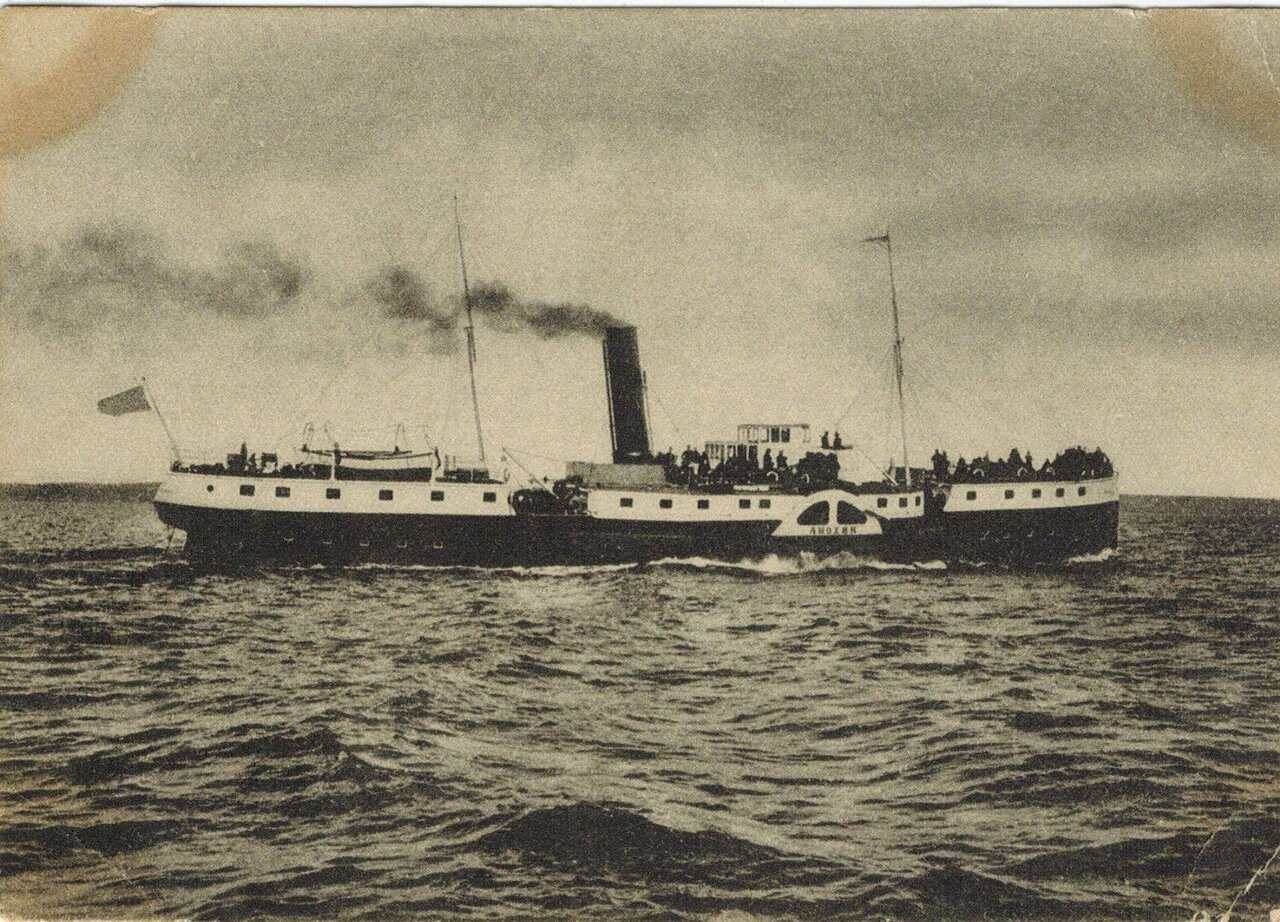 Пароход «Анохин» на Онежском озере