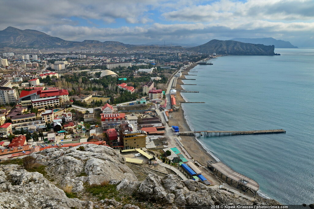 Winter Sudak. A view from a height