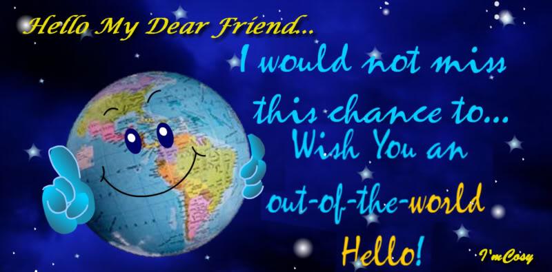 Открытки. Международный день приветствий. Привет друзьям открытки фото рисунки картинки поздравления