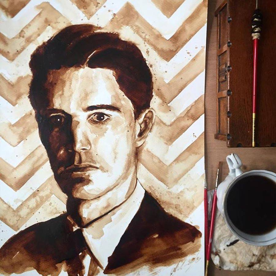 Masterpieces Created with Coffee
