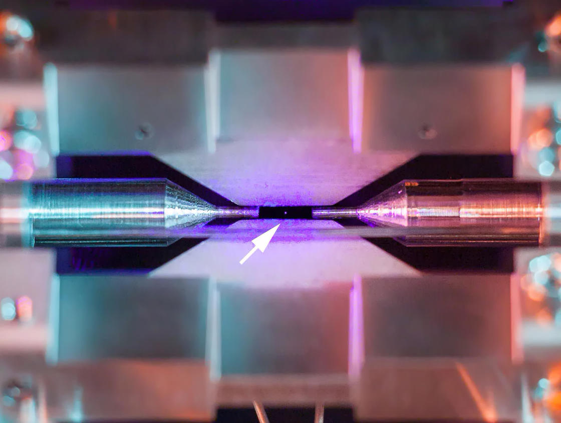 A single atom visible to the naked eye in this incredible photograph!