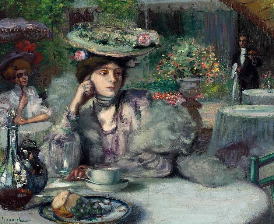 Une Élégante au café, 1883